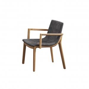 戈登扶手餐椅 / 鐵灰布 【HG】