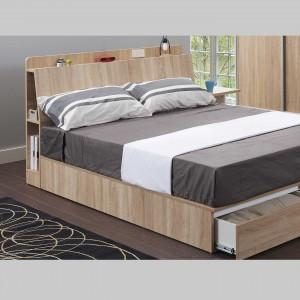 達卡斯 兩側收納加厚床頭片 / 加州橡木 / 單人3.5尺【HG】